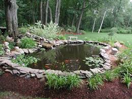 awesome backyard pond landscaping ideas yard pond ideas
