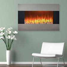 northwest 36 in electric fireplace wall mount floor stand in
