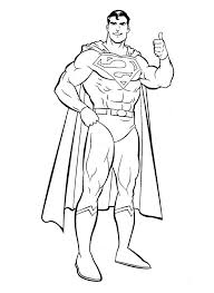 cool superman coloring superman colour book
