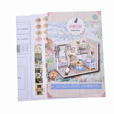 Diy Dream Home by 1 Set Diy Mini Doll House Assembling Furniture Miniatures Dream