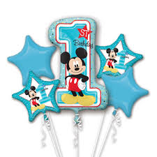 baby mickey 1st birthday new baby mickey mouse 1st birthday balloon bouquet party