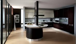 amazing kitchen design that uses black color cabinets collaborated