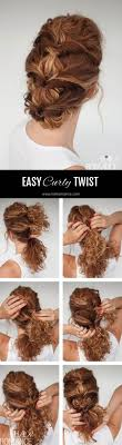 updos for curly hair i can do myself easy everyday curly hairstyle tutorial the curly twist