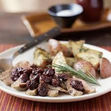 duck with dried cherries and rosemary recipe myrecipes