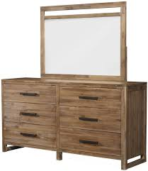 Rustic Modern Wood Furniture Rustic Modern Dresser With Six Full Extension Drawers U0026 Framed