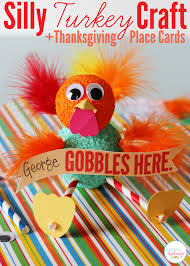 turkey thanksgiving craft and place cards