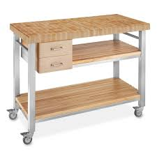 kitchen island cart butcher block boos end grain butcher block culinary cart 48 williams sonoma