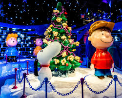 peanuts characters christmas free images blue christmas tree smile