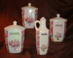 lusterware canisters etsy