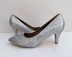 wedding shoes mid heel navy glitter kitten heels blue bridal wedding shoes