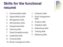 resume administrative skills effective resume writing