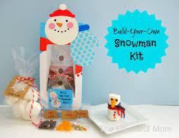build your own snowman kit homemade christmas gifts the happy