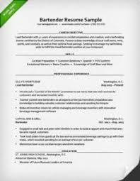 Resume Template For Bartender Bartender Cover Letter Resume Genius