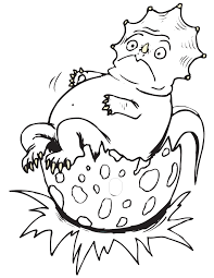 baby hatching dinosaur coloring page h u0026 m coloring pages
