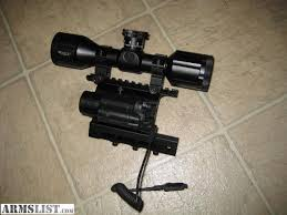 ak 47 laser light combo armslist for sale ak psl saiga side mount scope light laser combo