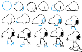 simple ways that teaches you how to draw snoopy drawings and