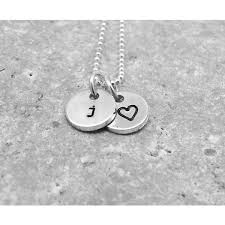 Initials Necklace Silver The 25 Best Sterling Silver Initial Necklace Ideas On Pinterest