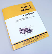 john deere 246 446 247 447 corn planter parts manual catalog