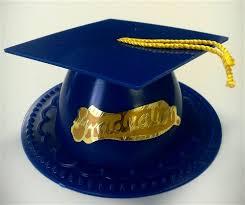 blue graduation cap graduate mortar board cap cake topper