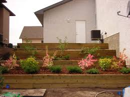 Front Yard Retaining Walls Landscaping Ideas - wooden retaining wall steps gentle earth design studio portfolio