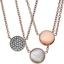 gold tone necklace set images Emporio armani ladies rose gold tone necklace set egs2309221 the jpg