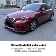 fuel consumption lexus is250 carbon fiber front bumper lip chin flap spoiler for lexus is250