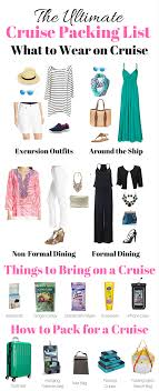The ultimate cruise packing list what to pack for a cruise