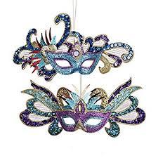 kurt adler glittered sequined carnival mask