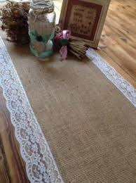 lace table runners wedding 7ft pretty hessian and lace table runners wedding decor amazon co