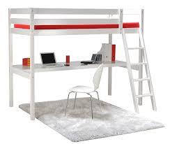 lit mezzanine bureau blanc weber industries 325313 aspen lit mezzanine bureau avec sommier