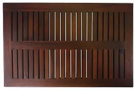 Teak Bath Mat Decoteak Decoteak 23 X15 Teak Shower Bath Floor Mat Reviews