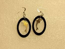 cd earrings inventorartist dolphin earrings vinyl cd