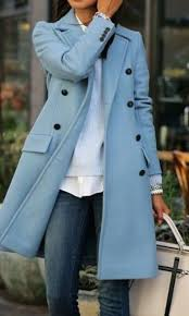 light blue trench coat baby blue trench coat pea coat enchanting fifties and up