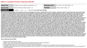 e learning project manager cover letter u0026 resume