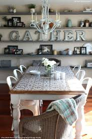 stenciled dining room table home design ideas