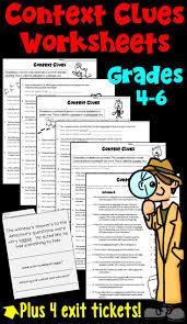 Context Clues Worksheet 5th Grade Best 25 Context Clues Worksheets Ideas On Pinterest Context