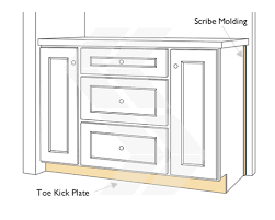scribe molding and toe kick panel kitchen design pinterest