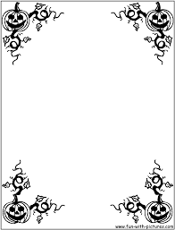 Halloween Themed Coloring Pages by Halloween Page Borders Free Download Clip Art Free Clip Art