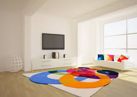 Modern Colorful Rugs Bubbles Outline Contemporary Modern Area Rugs By Sonya Winner