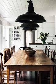 interior vintage industrial dining room table in brilliant