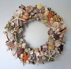 decorating diy charming seashell wreath for wall or door