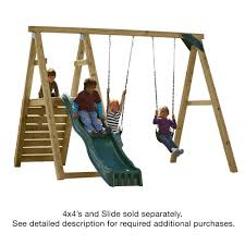 swing n slide playsets pine bluff play set just add 4x4 u0027s and
