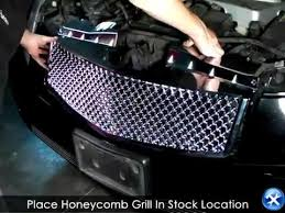 2011 cadillac cts grille spec d honeycomb mesh grille 2003 2007 cadillac cts