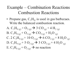 example combination reactions combustion reactions