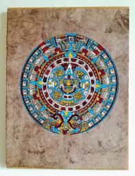 Aztec Home Decor by Aztec Calendar Mexican Folk Art Home Decor Colourful Art