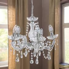 harrison lane 5 light crystal chandelier searchlight marie therese 5 light crystal chandelier wayfaircouk