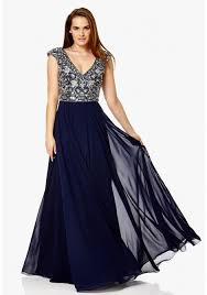 navy maxi dress london tiarella embellished maxi dress in navy silver