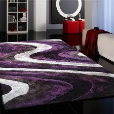 Purple Shag Area Rugs Vibrant Spike Purple Silver Gray Black Tufted Shag Area Rug