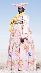 namibian tribe wears 19th century dress to protest against the