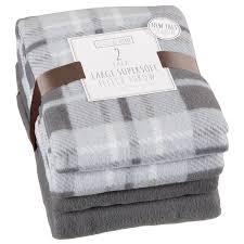 large supersoft fleece throw home soft furnishings b m